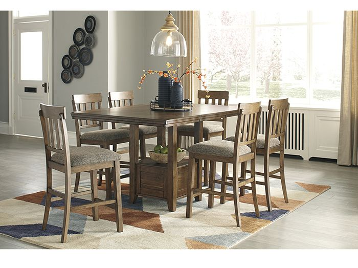 Rosemont 5 Pc Counter Height Dining Set Counter Height Dining Room Tables Counter Height Dining Sets Brown Dining Room