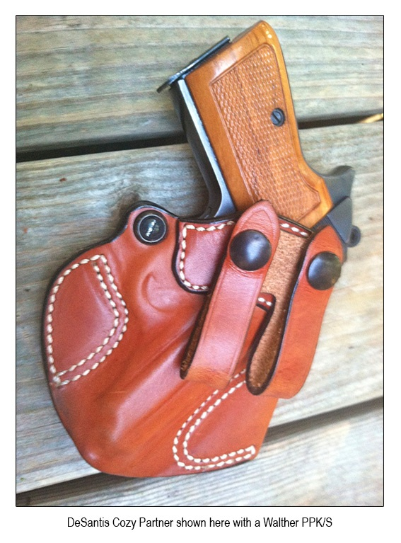 DeSantis Cozy Partner - one of many featured in The Insanely Practical Guide to Gun Holsters. http://amzn.to/YTQso7