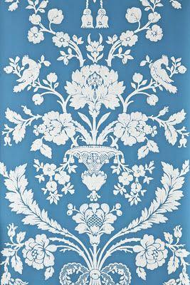Blue - Farrow & Ball-St. Antoine pattern