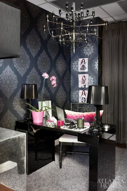 how to get the look of this amazing and glam office for less