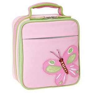 Pink Impertex Girl Lunch Kit with Butterfly Patchwork