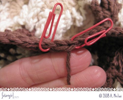 """Before learning this technique, I would just pull the end tightly and weave it in.  That leaves a little bump in edge of the crochet.      This technique show you how to """"fake"""" a crochet stitch to connect the last stitch to the first stitch of the row, which looks awesome."""
