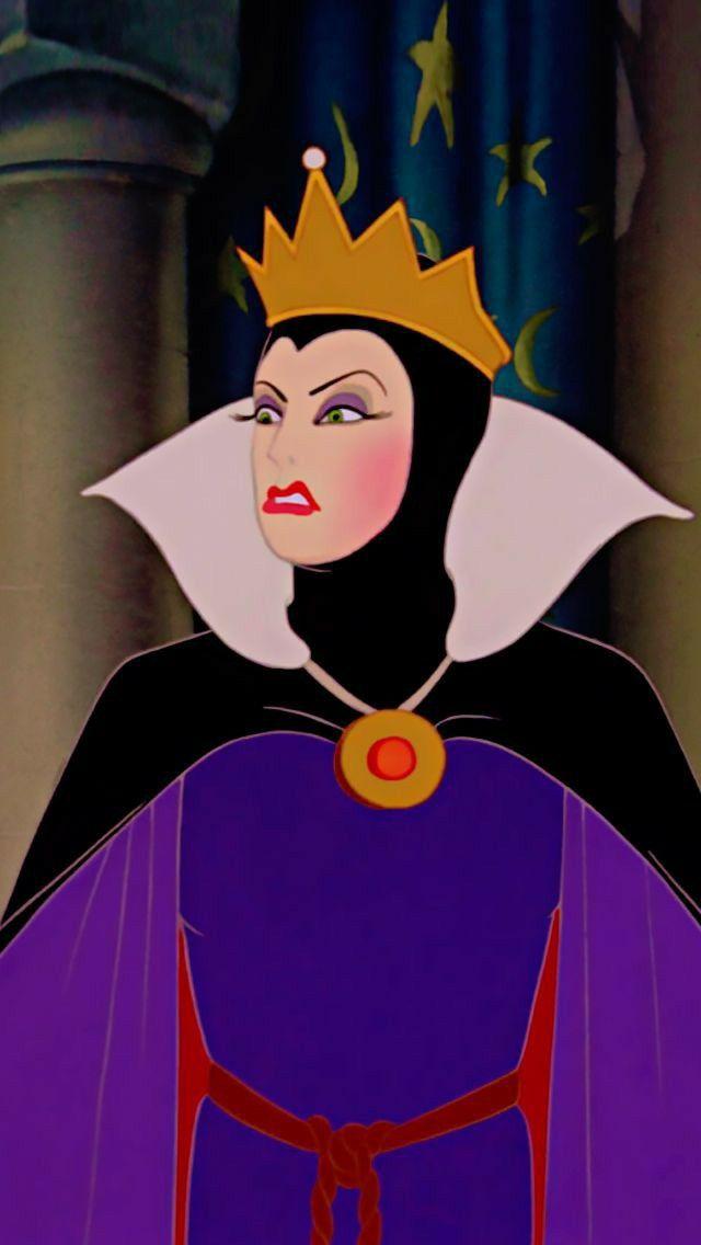La Reine Blanche Neige Mechante Reine Mechants Disney Dessins De Personnages Disney