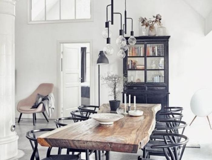 La table de salle manger en 68 variantes d co cuisine salle manger style industriel - Salle a manger chris ...