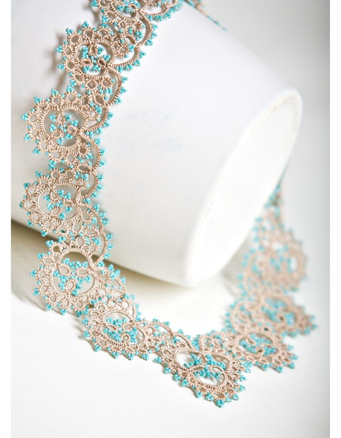 Tatting | Lovely colors!  These colors with the following necklace - spectacular combo - ms