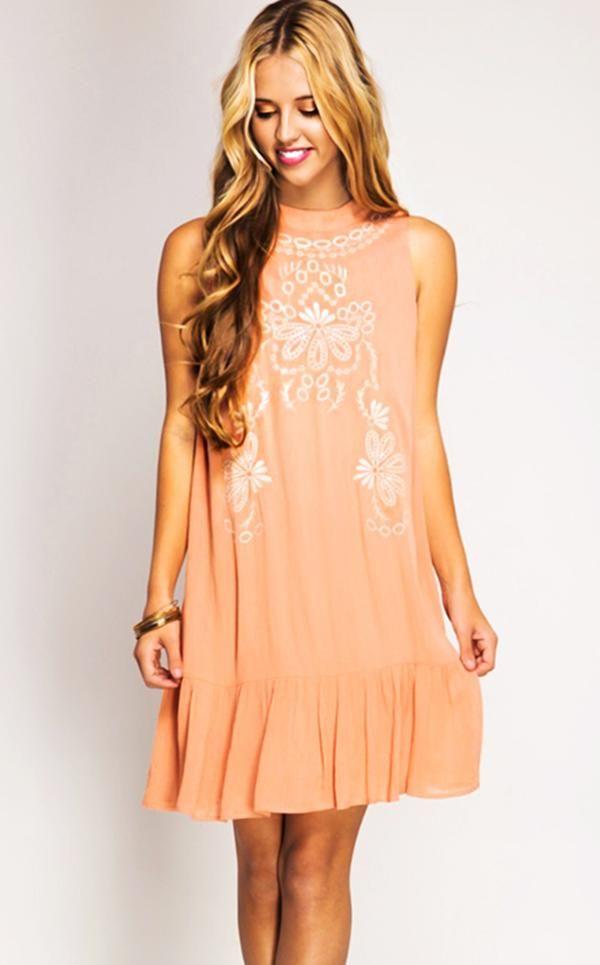 dd17b0cea5 Pretty As A Peach Dress