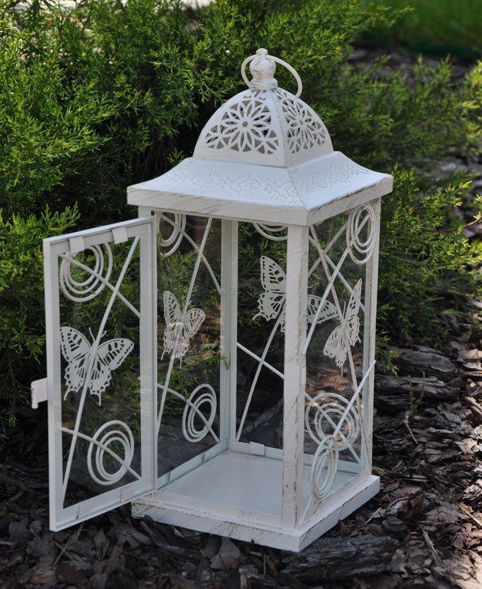 Romantyczny lampion na jedną świecę w stylu prowansalskim / Romantic Lanterns of butterflies in Provencal style