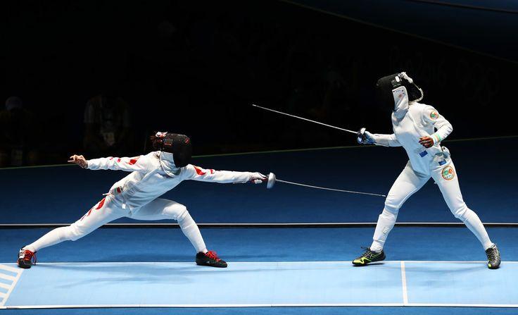 Day 1:  Fencing - Women's Individual Epee - Yiwen Sun of China vs Gbahi Gwladys Sakoa of the Ivory Coast