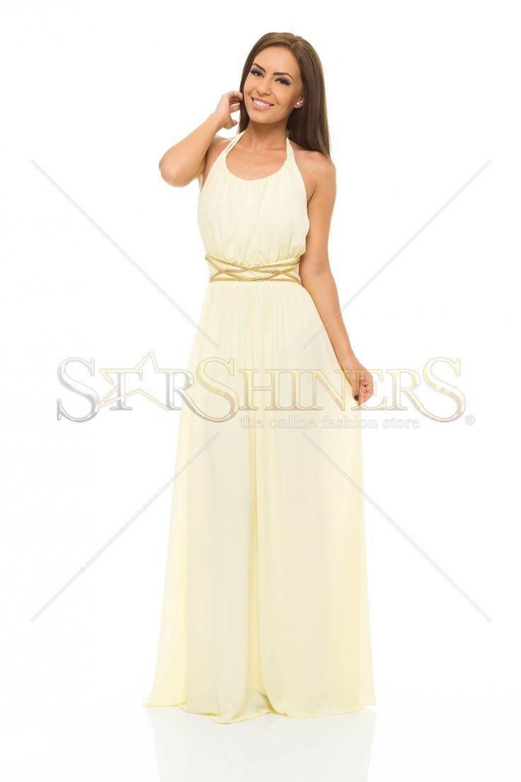 LaDonna Golden Waist Yellow Dress