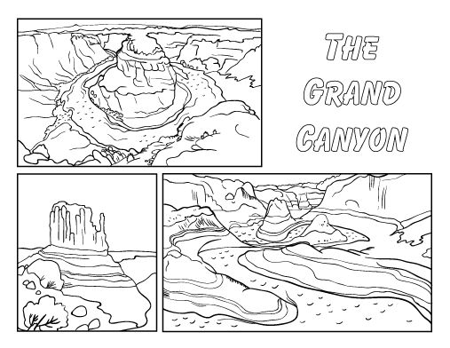 Printable Grand Canyon Coloring Page Free PDF Download At Coloringcafe