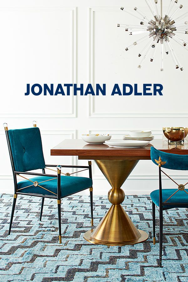 Serve Something Chic Jonathan Adler Dining Tables Chairs Dinnerware And Other Tabletop Accents Are Hardworking Enough For Everyda Classic Dining Room Decor