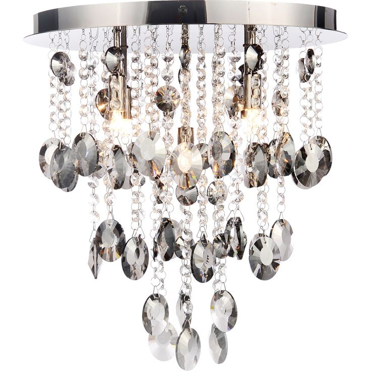 """Cascade"" Flush Crystal Drops Ceiling Light - TK Maxx"