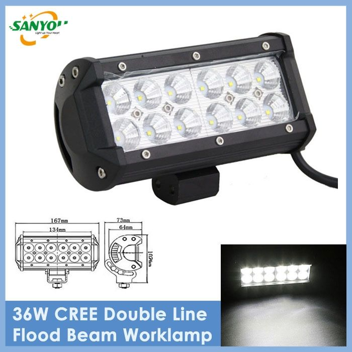 33.12$  Buy here - http://aliwy4.shopchina.info/go.php?t=32353133529 - 2016 New Arrival 1Pc 7 Inch 36W 2520LM LED Work Light Bar Lamp Led Offroad Light Bulb for JK Wrangler Work Light Bar  #aliexpresschina