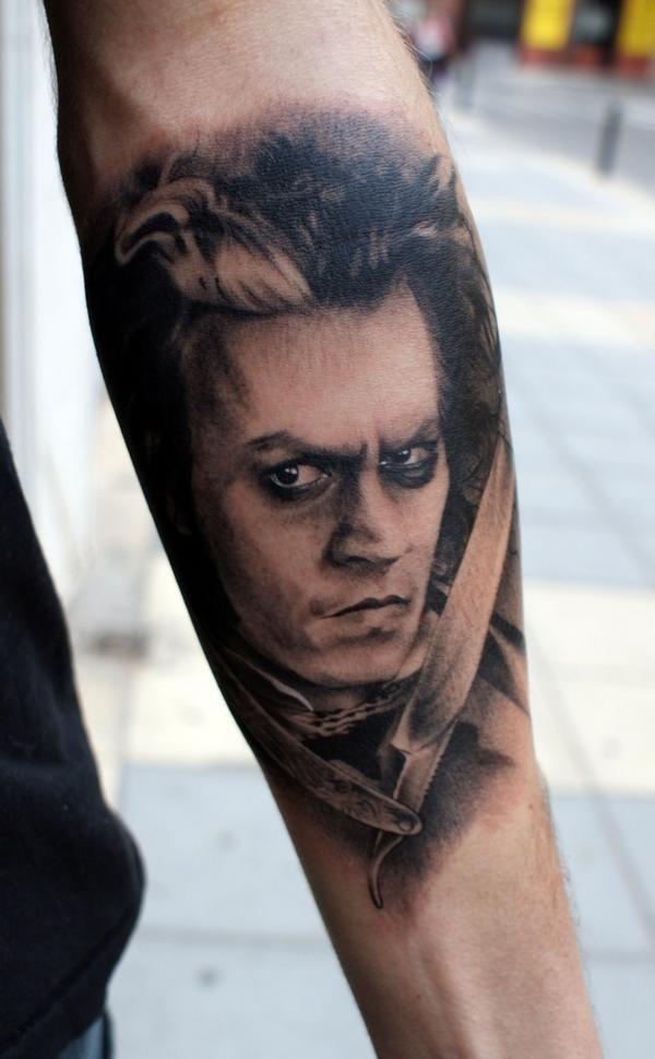 59 best horror tattoos images on pinterest horror for Sweeney todd tattoo