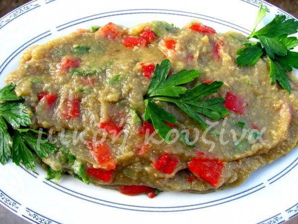 μικρή κουζίνα: Μελιτζανοσαλάτα αγιορείτικη