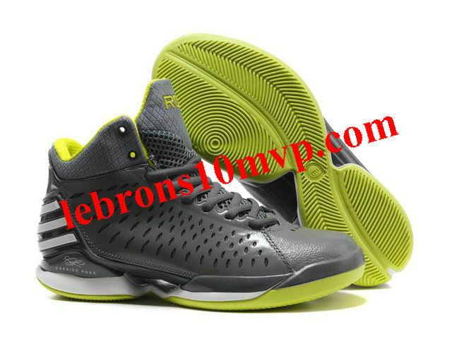 Adidas AdiZero Rose 3.0 Shoes Gray/Green