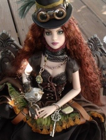 Original Pinner Comment: Tonner Dolls About Flights of Fancy Cami: Custom Steampunk OOAK Cami Repaint #dollchat