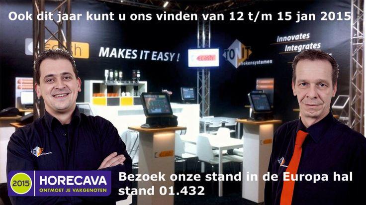 Mark en Bert van Tonit afrekensystemen op de Horecava 2015 Amsterdam