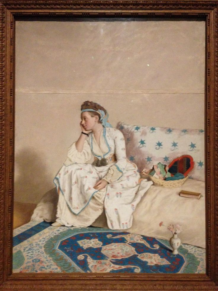 Portrait of the Artist's Wife, Marie Fargues, in Turkish Dress (1756-58), Jean Etienne Liotard