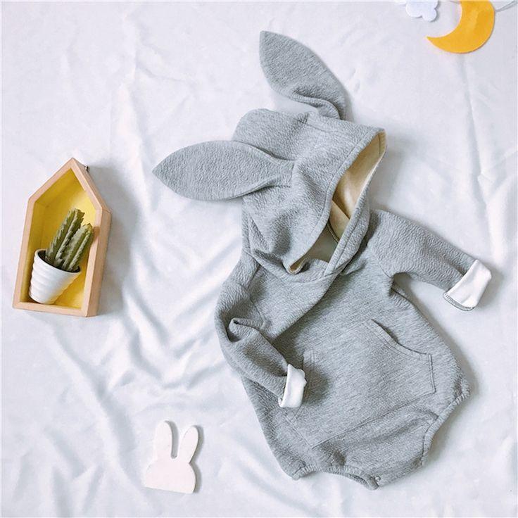Kawaii кролика для новорожденных Комбинезоны для малышек зима теплая мальчиков Одежда и аксессуары для девочек с длинными рукавами комбинезо... #Kawaii, #кролика, #для, #новорожденных, #Комбинезоны, #малышек, #зима, #теплая, #мальчиков, #Одежда, #аксессуары, #девочек, #длинными, #рукавами, #комбинезо--