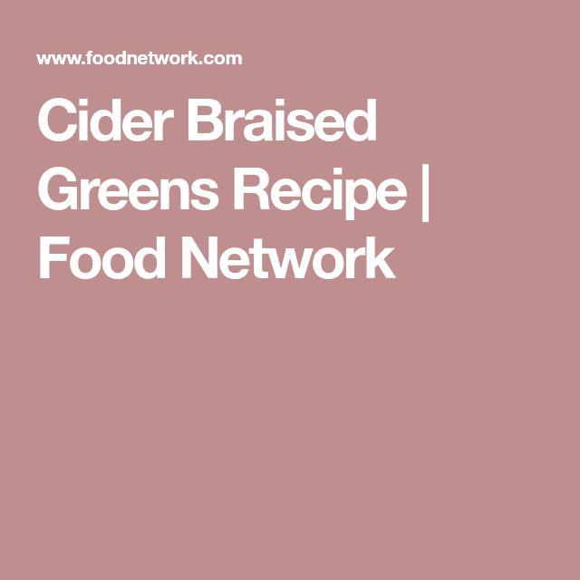 Cider Braised Greens Recipe | Food Network