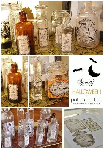 Create your own spooky Halloween Potion Bottles using the Silhouette Cameo for some fun Halloween decor