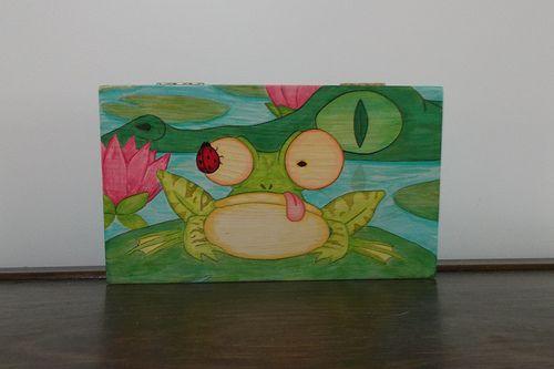 alligator frog box