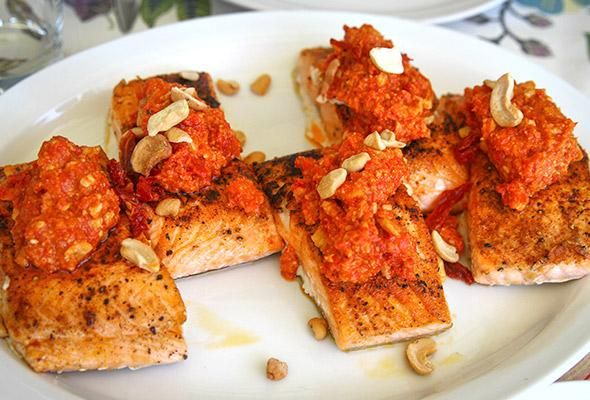 ... ronnie ronnie woo s romesco sauce salmon romesco versatile sauce easy