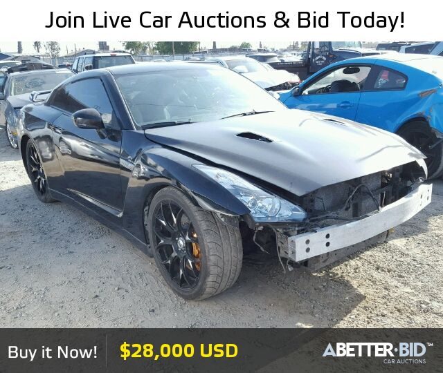 Salvage  2009 NISSAN GTR for Sale - JN1AR54F09M250868 - https://abetter.bid/en/22285316-2009-nissan-gt-r--premi