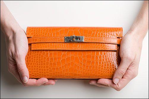 Hermes Kelly Long Wallet- in alligator | orange! | Pinterest ...