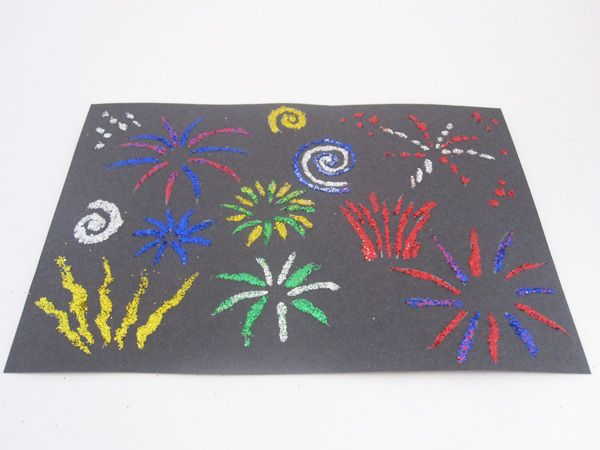 Glitter Fireworks Bonfire Night craft