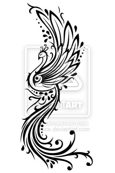 Phoenix Tattoo Designs In Back | Tattoo ideas | Pinterest ...