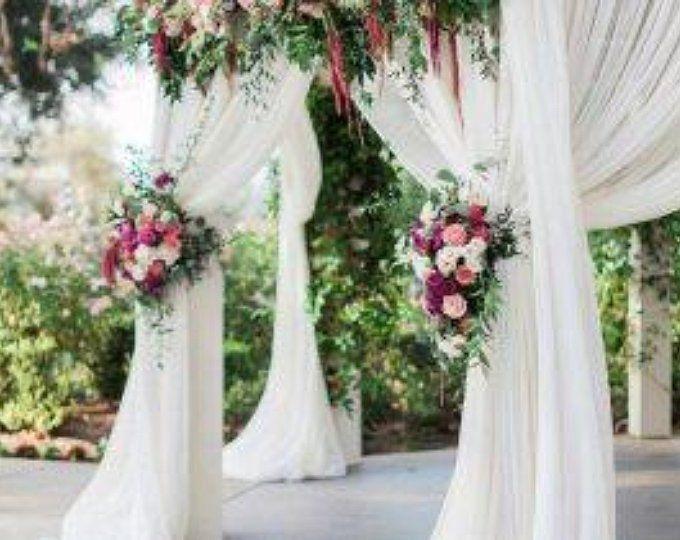 Arch Boho Wedding Decoration Ivory Centerpiece Gauze Runner Etsy