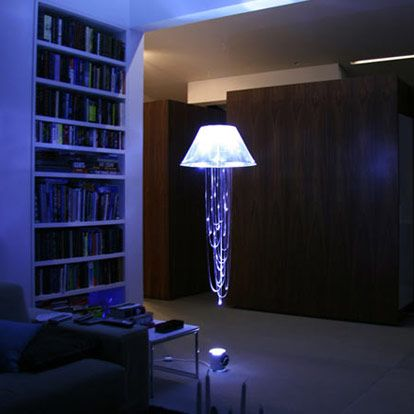 Jellyfish String Lights : a jellyfish lamp? stunning! Home Decor Pinterest Jellyfish and Mood lamps