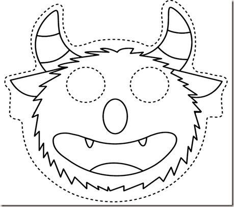 Teaching english to the little ones owl and monster masks for Sully pumpkin template