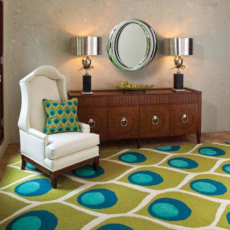 Global Views Peacock Rug @Zinc_Door #zincdoor #colorcrave #peacockblue