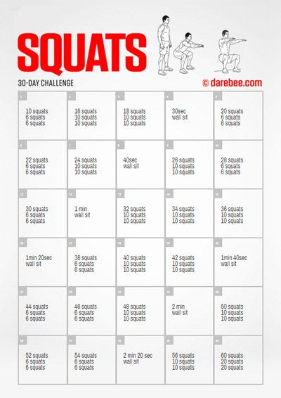 I love the Squat Fitness Challenge! | Health and Fitness ...