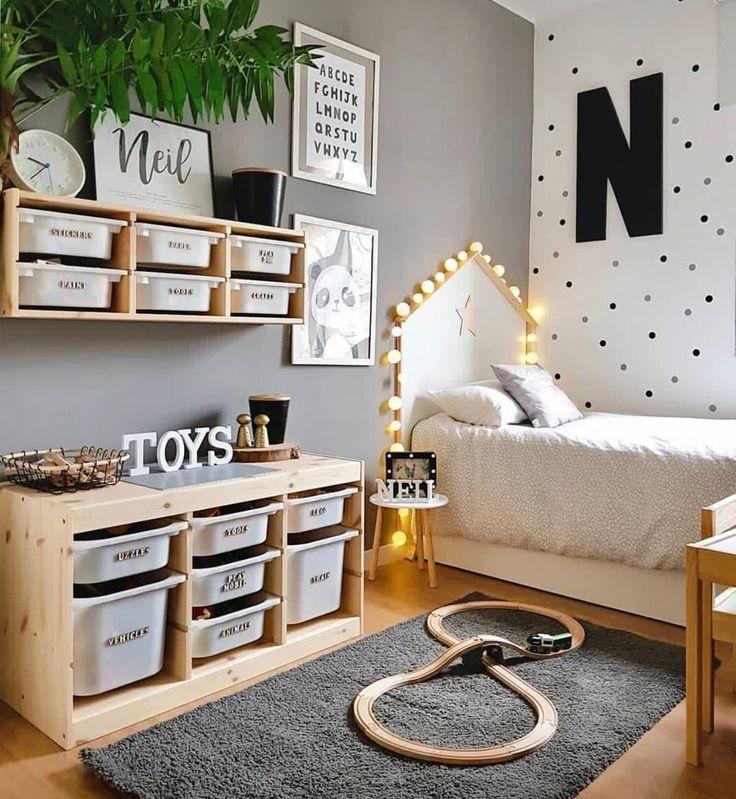 """Fantasyroom on Instagram: """"Wow, was für Ordnung! 🖤 Wer hätte auch gerne so ein aufgeräumtes Kinderzimmer? 😊 📷 @midulcehome . . . . #myfa…"""