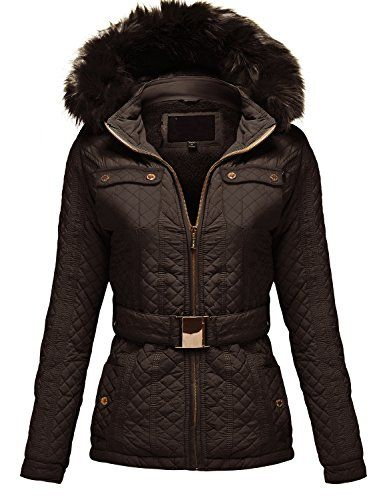 Winter Detachable Fauxfur Hoodie Quilted Padding Jackets *** For more information, visit image link.