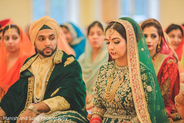 Lovely Sikh bride http://www.maharaniweddings.com/gallery/photo/96169