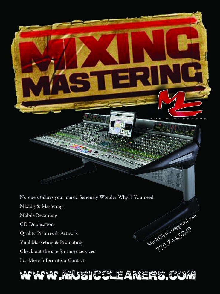 Mixing and Mastering / Music Cleaners Exposing and Cleaning up the underground.