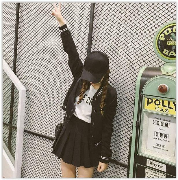 Fashion Street - Striped Baseball Jacket