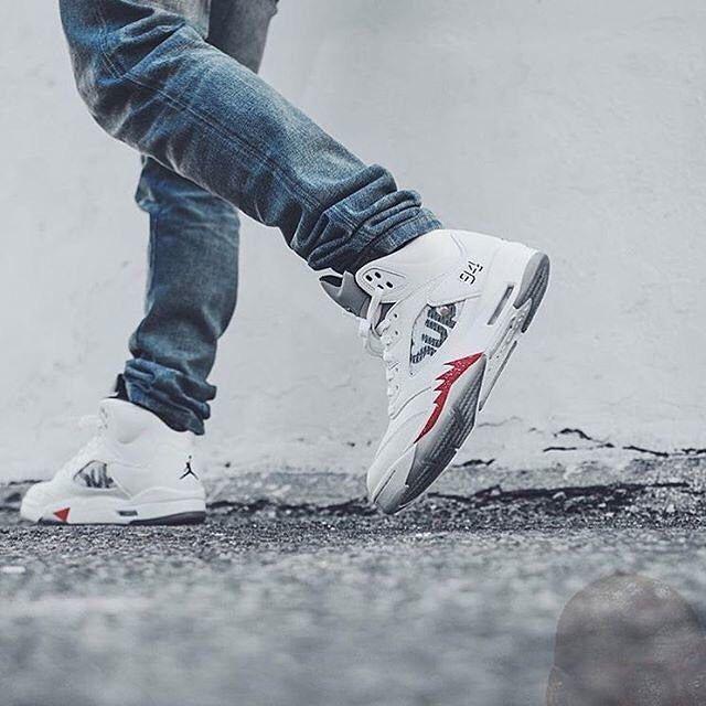 2019 的SHOP  Supreme X Nike Air Jordan 5 Retro White ...