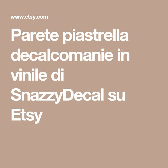 Parete piastrella decalcomanie in vinile di SnazzyDecal su Etsy