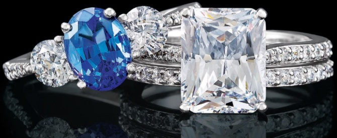 The sapphire symbolizes sincerity and faithfulness...