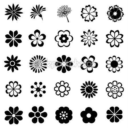 Conjunto de vectores de flores — Vector stock © chartcameraman ...