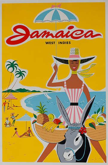 old jamaica poster - this feel, like colors, font