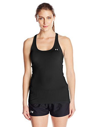 From 11.70 Under Armour Heat Gear Racer Women's Tank Top Black X-small