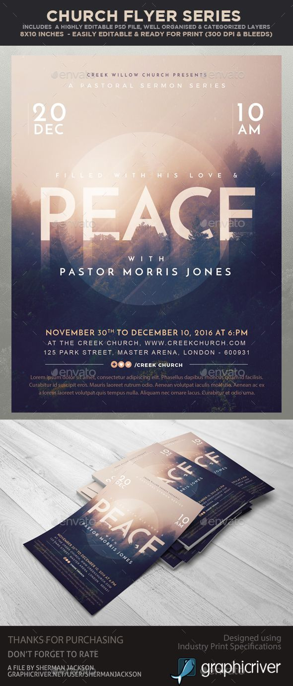 Church / Christian Themed Event Flyer Template PSD