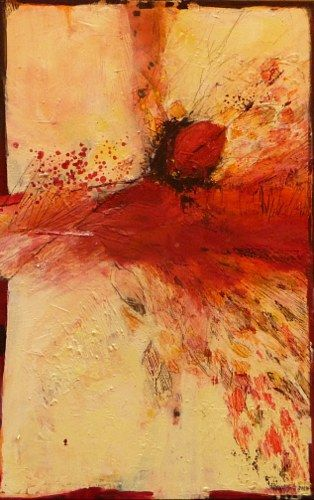 """Inge Philippin - """"Power of Affection"""" - mixed media on canvas"""
